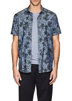 John Varvatos Star U.S.A. Men's Leaf-Pattern Cotton Short-Sleeve Shirt