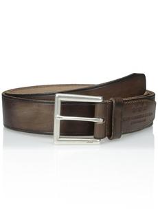 John Varvatos Star USA Men's Leather Belt with Heat Crease 40mm
