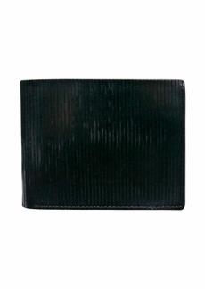 John Varvatos Star USA Men's Leather Slim Bifold Wallet black
