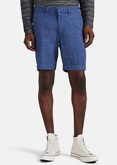 John Varvatos Star U.S.A. Men's Linen-Blend Flat-Front Shorts