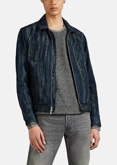 """John Varvatos Star U.S.A. Men's Lucas """"Ink Drip"""" Zip-Front Trucker Jacket"""