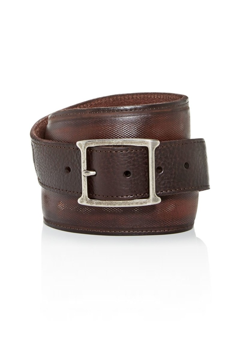John Varvatos Star USA Men's Mesh Inlay Leather Belt