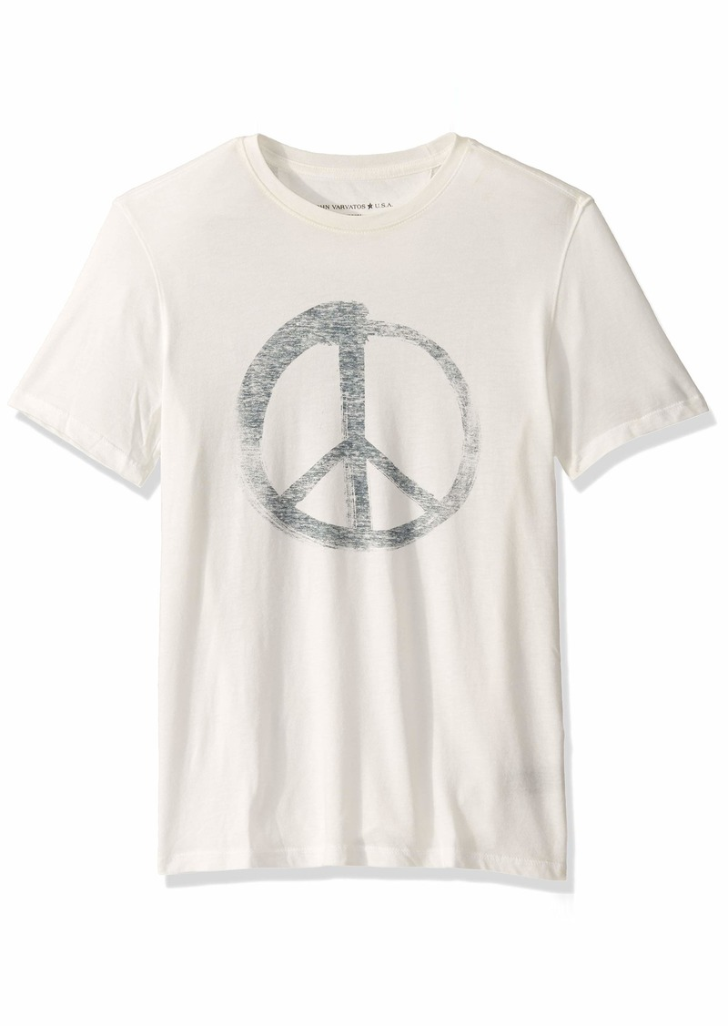 John Varvatos Star USA Men's Peace Symbol Graphic TEE