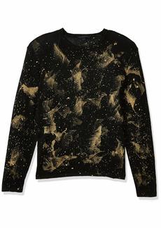 John Varvatos Star USA Men's Phoenix Long Sleeve Intergalactic Print Sweater  S