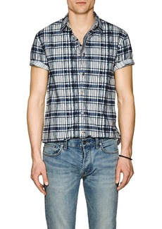 John Varvatos Star U.S.A. Men's Plaid Cotton Poplin Shirt