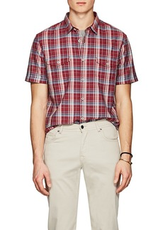 John Varvatos Star U.S.A. Men's Plaid Cotton Shirt