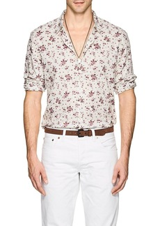 John Varvatos Star U.S.A. Men's Rose-Print Cotton Shirt