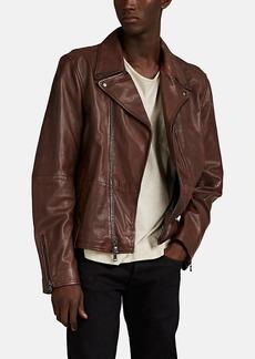John Varvatos Star U.S.A. Men's Sammy Waxed Leather Biker Jacket