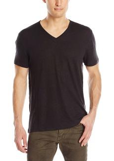 John Varvatos Star USA Men's Short Sleeve Slub V-Neck T-Shirt