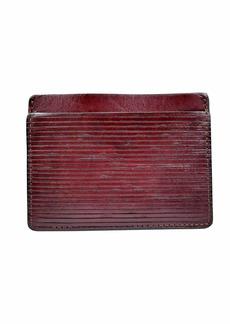 John Varvatos Star USA Men's Sleek Minimalist Card Case Leather Wallet