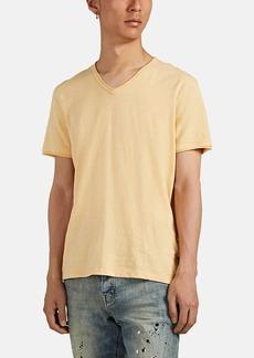 John Varvatos Star U.S.A. Men's Slub Cotton V-Neck T-Shirt