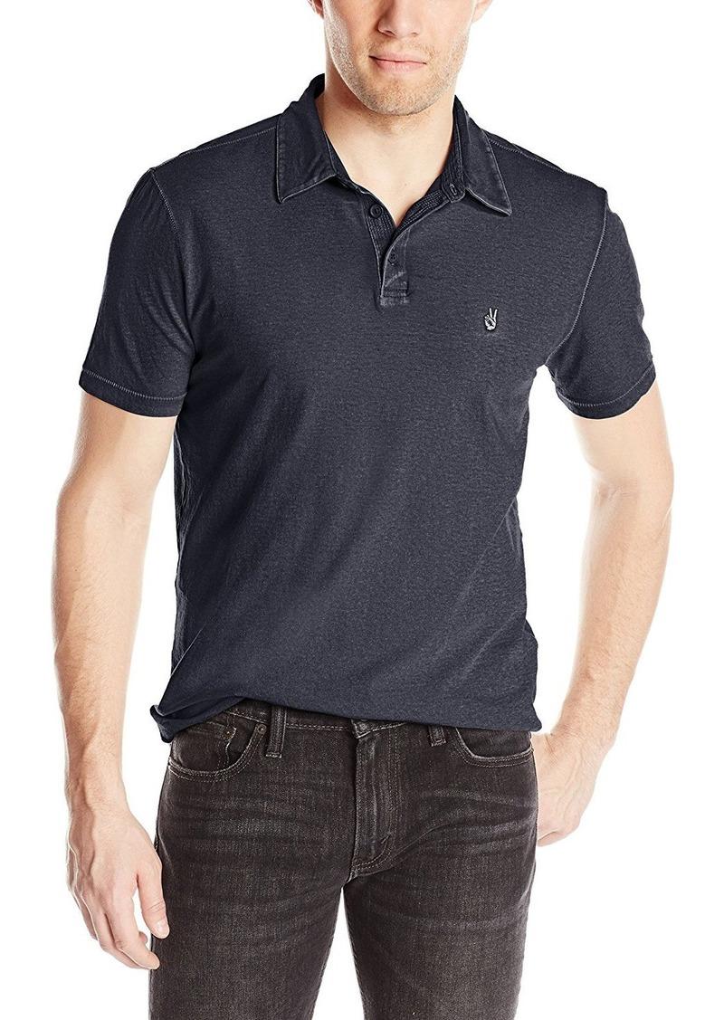 John Varvatos Star USA Men's Soft Collar Peace Polo Shirt