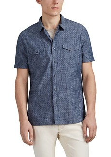 John Varvatos Star U.S.A. Men's Sprinkle-Print Slub Cotton Short-Sleeve Shirt