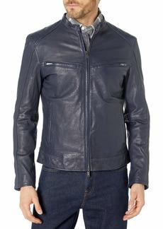 John Varvatos Star USA Men's Starman Leather Racer Jacket  S