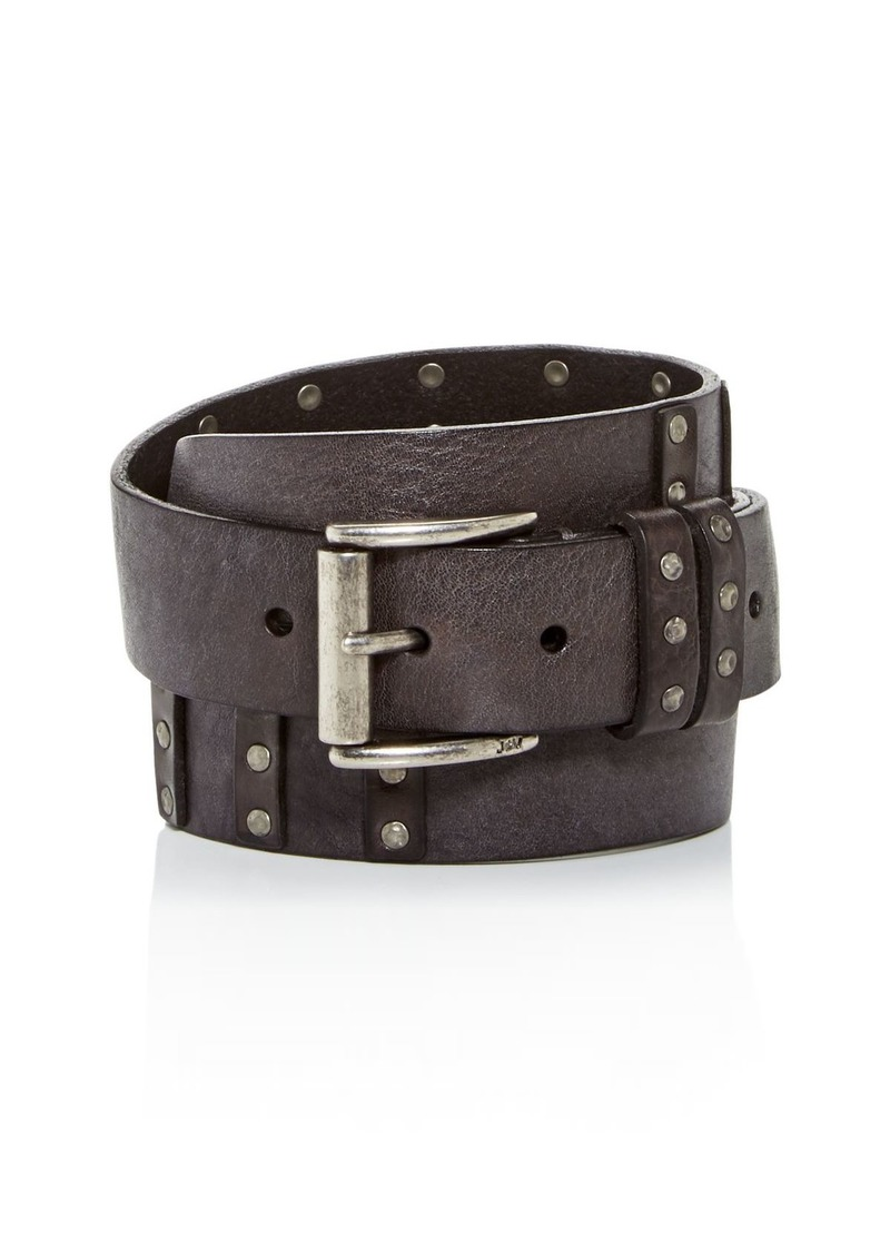 John Varvatos Star USA Men's Studded Leather Belt