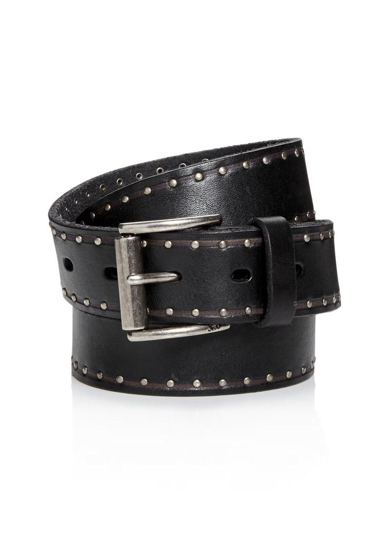 John Varvatos Star USA Men's Studded Leather Belt