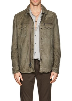 John Varvatos Star U.S.A. Men's Suede Shirt Jacket