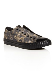 John Varvatos Bootleg Men's Vulcanized Abstract Camo Low-Top Sneakers