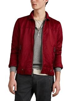 John Varvatos Star U.S.A. Men's Washed Silky Twill Zip-Front Shirt Jacket