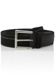 John Varvatos Star USA Men's Waxed Suede Belt with Stitching mm