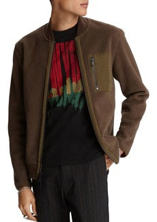 John Varvatos Star USA Metairie Fleece Regular Fit Bomber Jacket