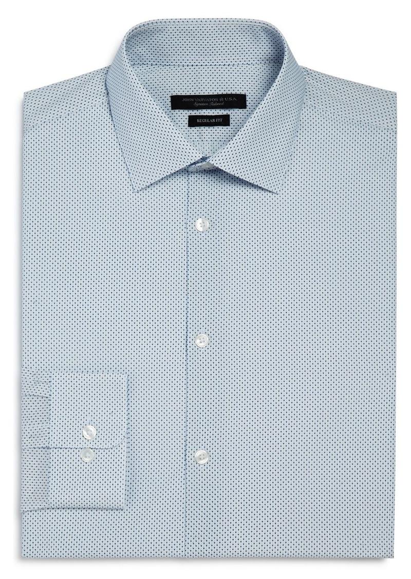 John Varvatos Star USA Micro Arrow Print Regular Fit Dress Shirt