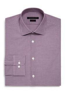 John Varvatos Star USA Micro-Check Regular Fit Dress Shirt