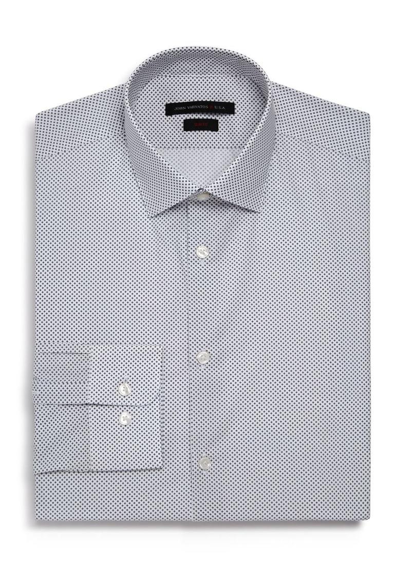 John Varvatos Star USA Micro-Diamond Slim Fit Dress Shirt
