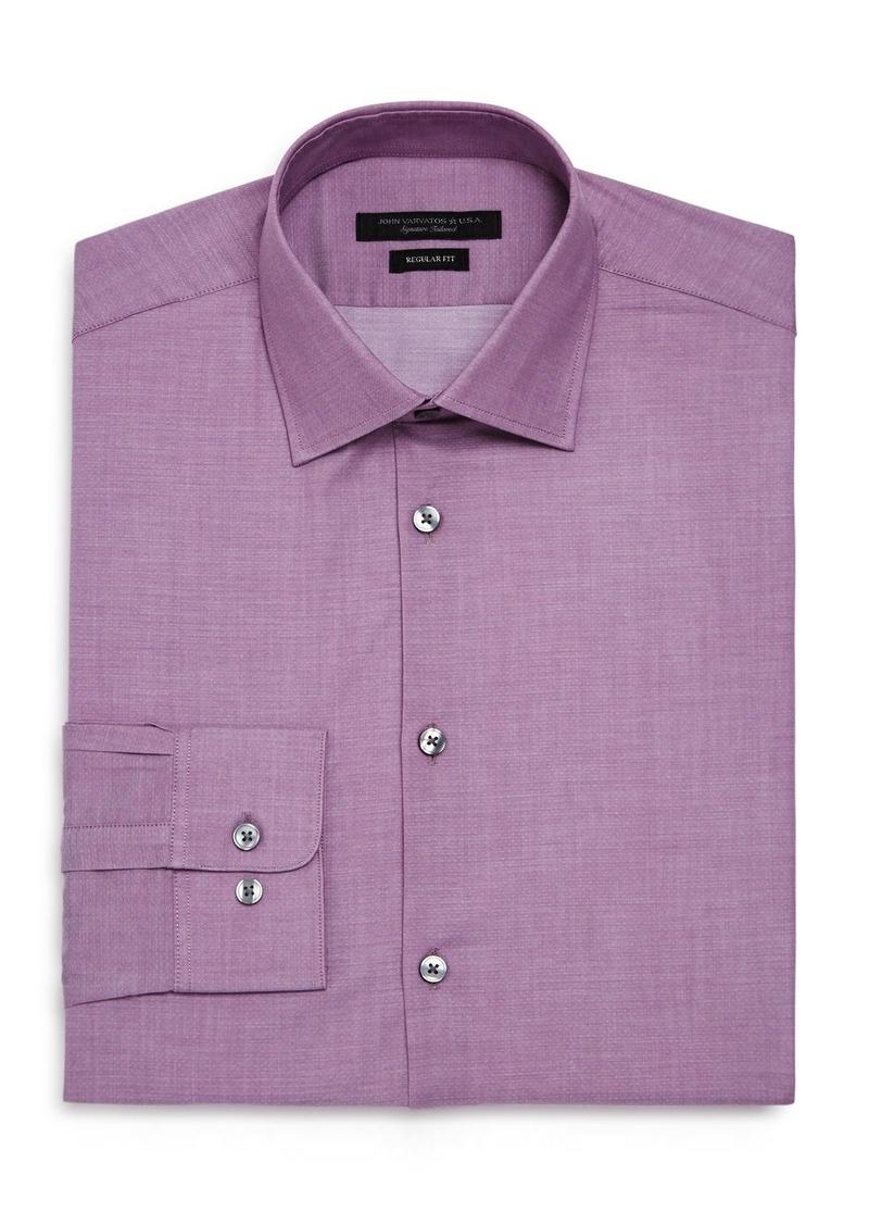 John Varvatos Star USA Micro-Dobby Regular Fit Dress Shirt