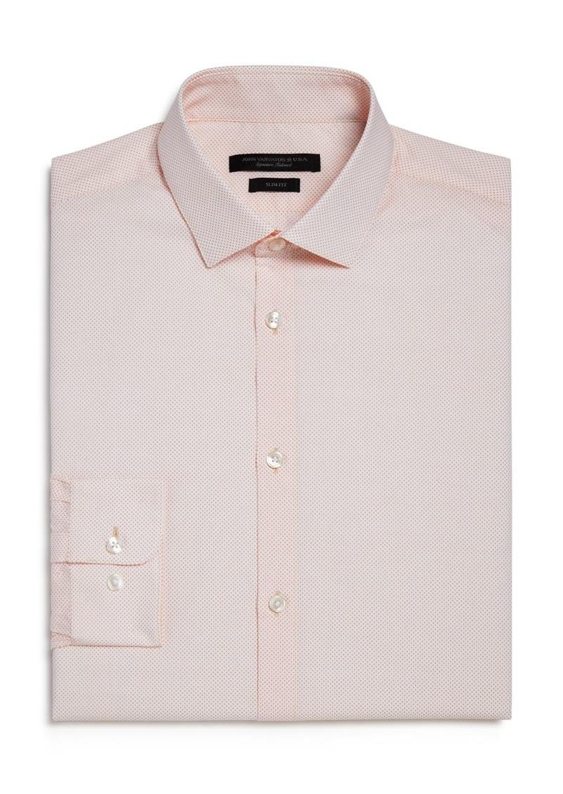 John Varvatos Star USA Micro Dot Slim Fit Dress Shirt