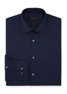 John Varvatos Star USA Micro Grid Regular Fit Stretch Dress Shirt