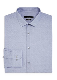 John Varvatos Star USA Micro-Grid Slim Fit Dress Shirt