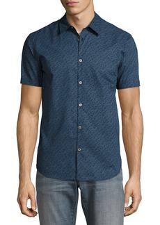 John Varvatos Star USA Micro-Print Short-Sleeve Sport Shirt