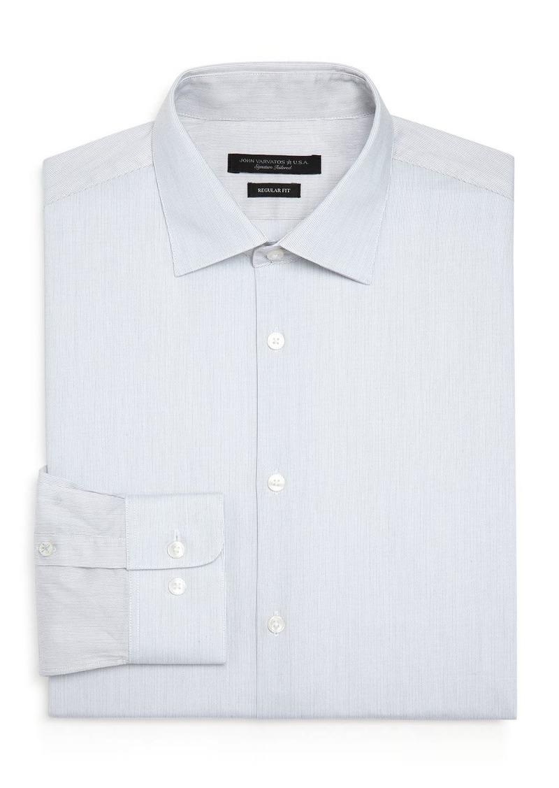 John Varvatos Star USA Micro-Stripe Regular Fit Dress Shirt