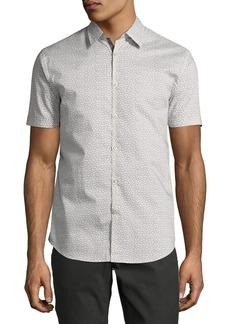 John Varvatos Star USA Mini-Print Sport Shirt