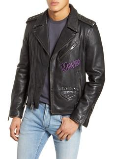 John Varvatos Star USA Misfits Leather Biker Jacket