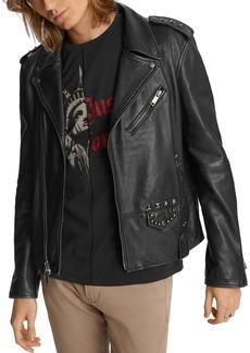 John Varvatos Star USA Misfits Studded Slim Fit Biker Jacket