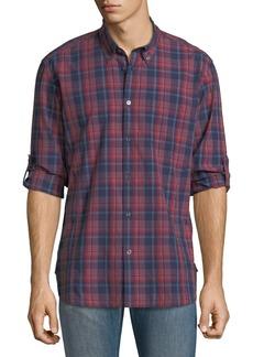 John Varvatos Star USA Mitchell Slim-Fit Plaid Short-Sleeve Shirt