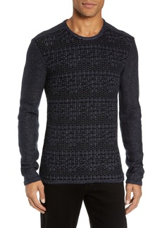 John Varvatos Star USA Mix Stitch Regular Fit Cotton Blend Sweater