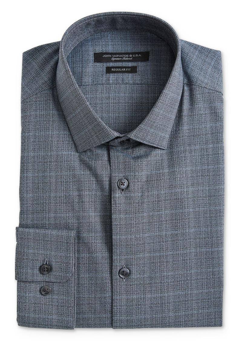 John Varvatos Star USA M�lange Plaid Regular Fit Dress Shirt