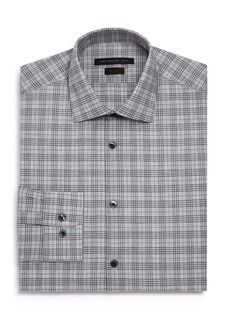 John Varvatos Star USA M�lange-Plaid Slim Fit Dress Shirt