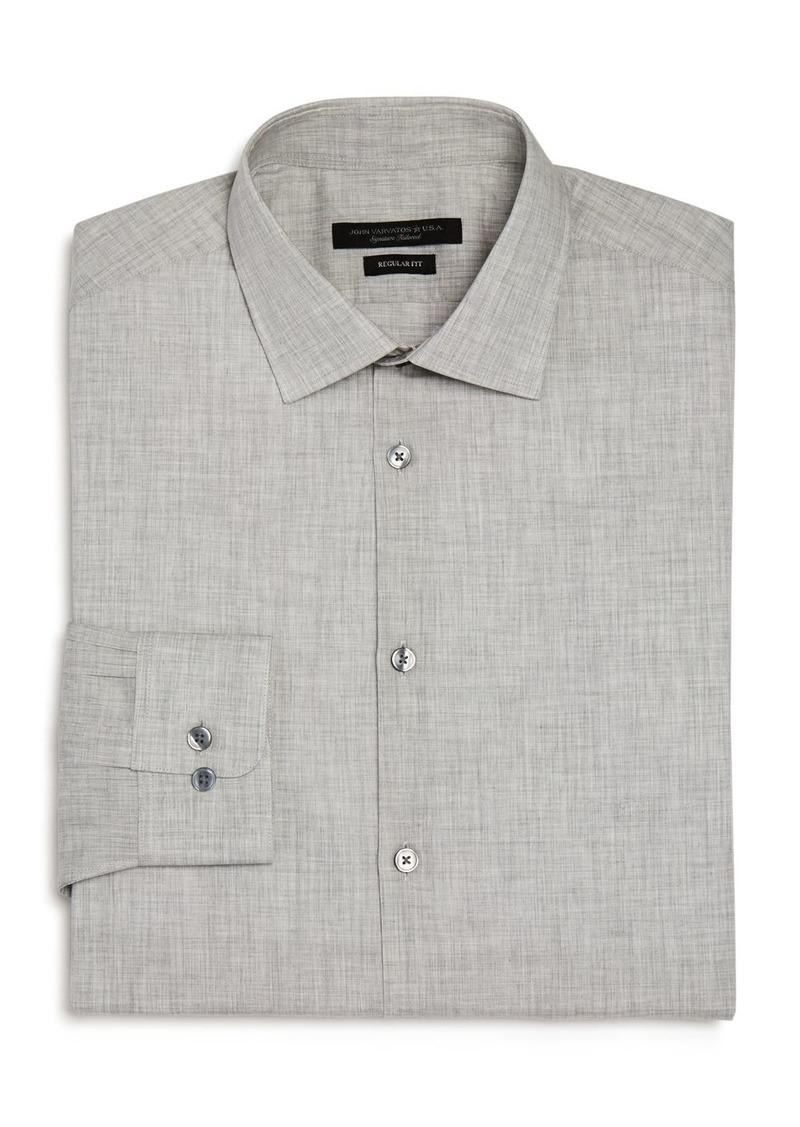 John Varvatos Star USA M�lange Regular Fit Dress Shirt