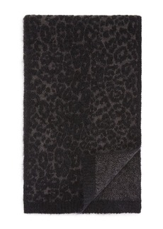John Varvatos Star USA Mohair Leopard Jacquard Scarf