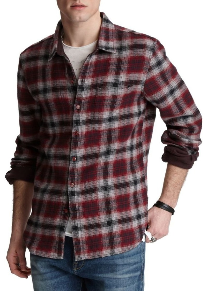John Varvatos Star U.S.A. Neil Reversible Cotton Sport Shirt