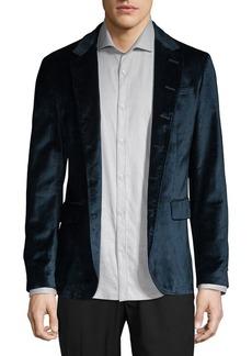 John Varvatos Star U.S.A. Notch Leather-Trimmed Sportcoat