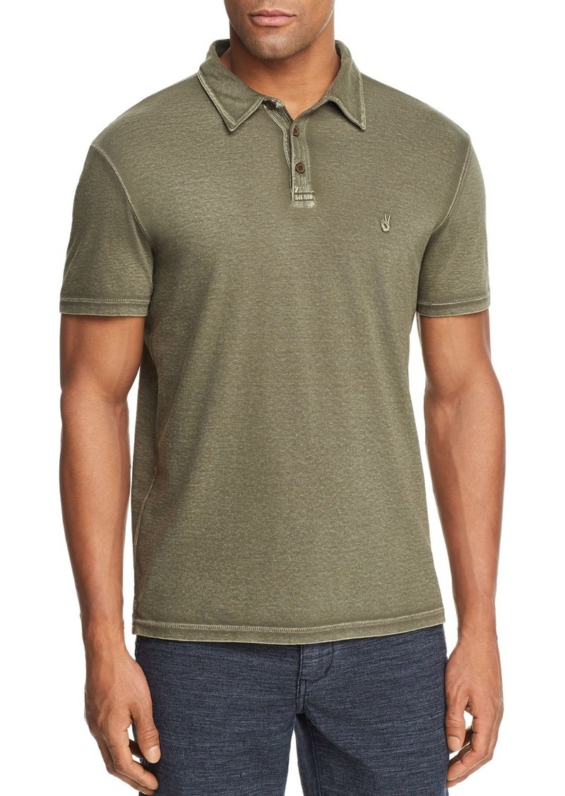 325a3359a John Varvatos John Varvatos Star USA Peace Sign Burnout Polo Shirt ...