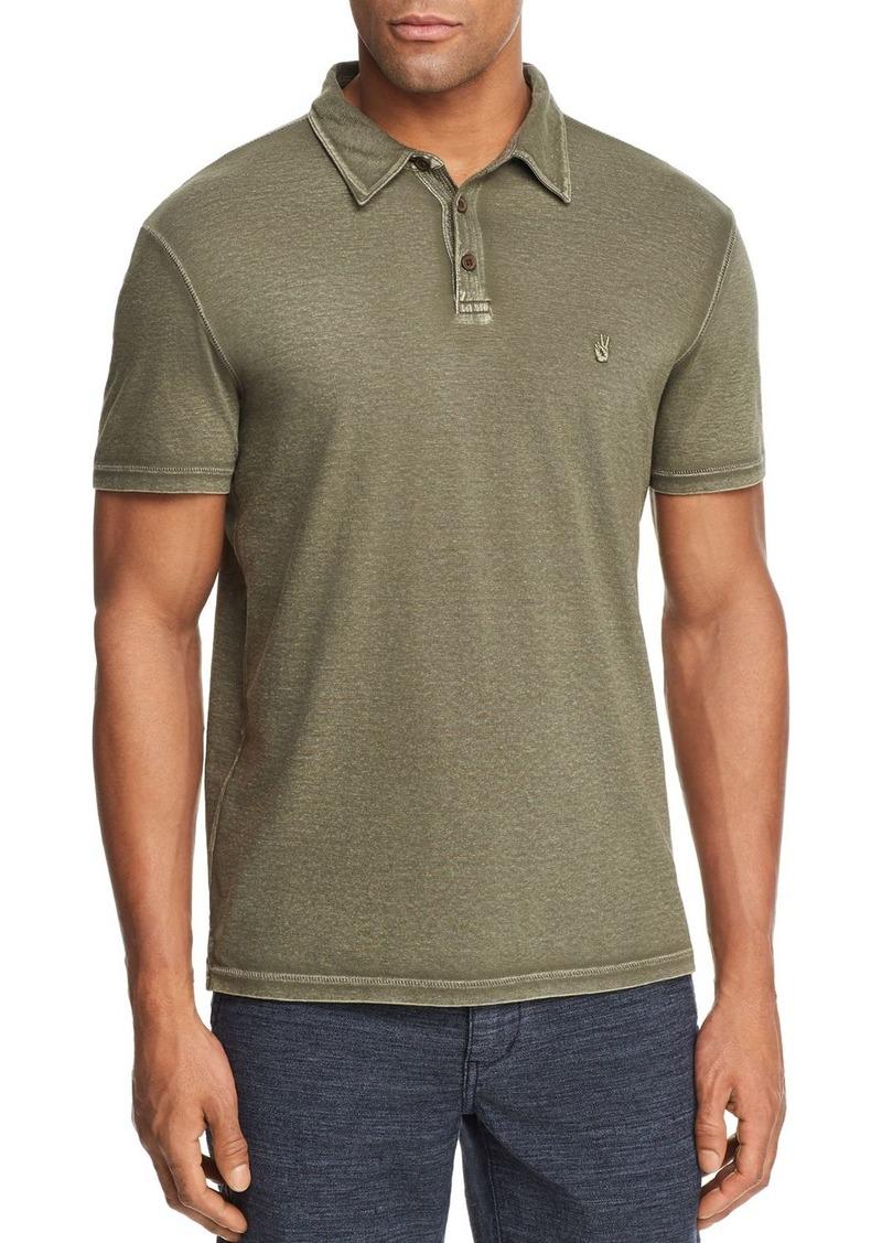 57e44f91 John Varvatos John Varvatos Star USA Peace Sign Burnout Polo Shirt ...