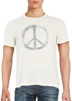 John Varvatos Star U.S.A. Peace Sign Graphic Tee