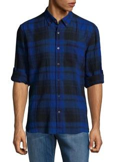 John Varvatos Star U.S.A. Plaid Casual Button-Down Shirt