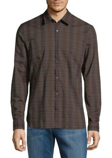 John Varvatos Star U.S.A. Plaid Cotton Button-Down Shirt